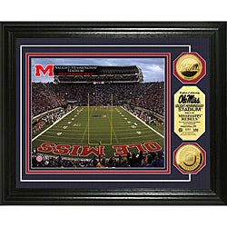 University of Mississippi Stadium 24-karat Gold Coin Photo Mint