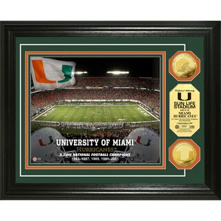 University of Miami Stadium 24-karat Gold Coin Photo Mint