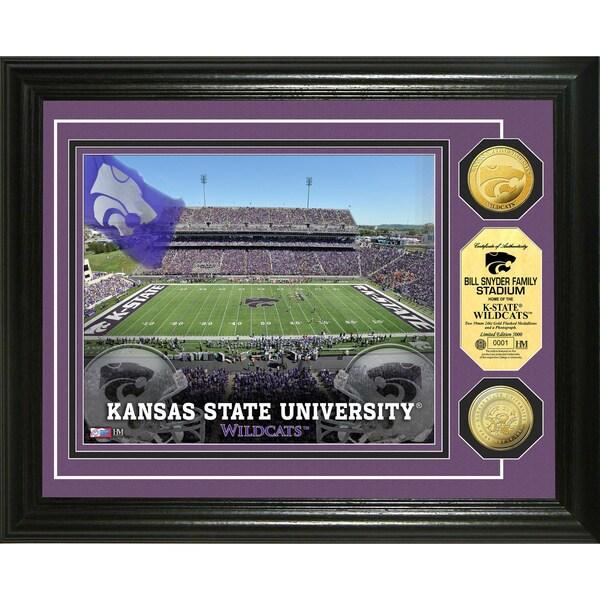 Kansas State University Stadium 24-karat Gold Coin Photo Mint