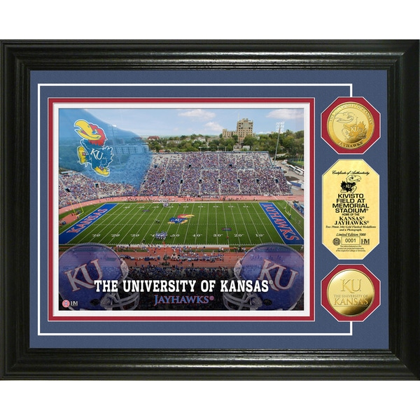University of Kansas Field 24-karat Gold Coin Photo Mint