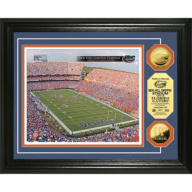 University of Florida Stadium 24-karat Gold Coin Photo Mint
