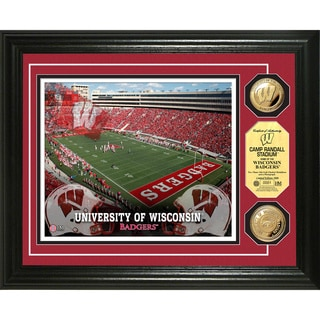 University of Wisconsin Stadium 24-karat Gold Coin Photo Mint