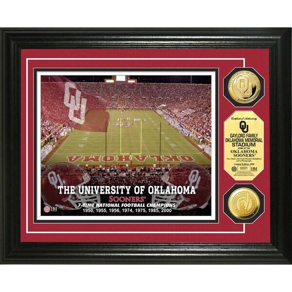 University of Oklahoma Stadium 24-karat Gold Coin Photo Mint