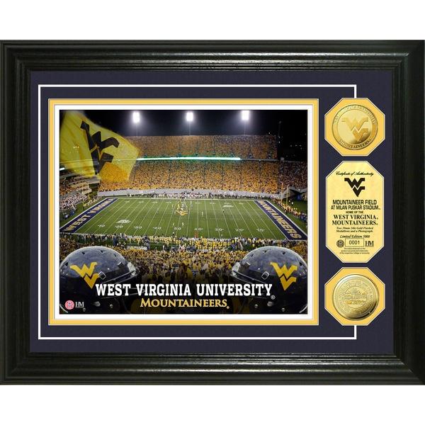 West Virginia University Mountaineer Field 24-karat Gold Coin Photo Mint
