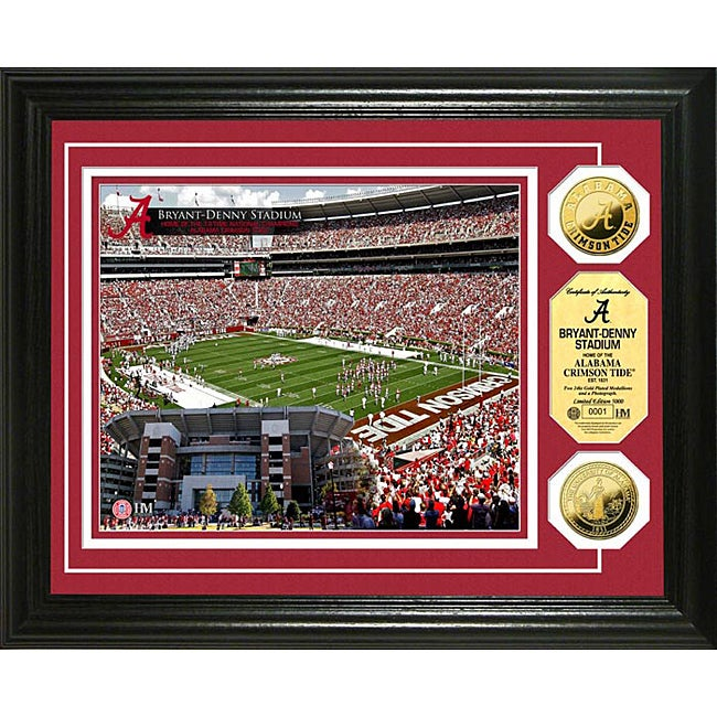 University of Alabama Stadium 24-karat Gold Coin Photo Mint