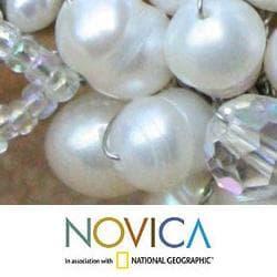 Handmade Pearl 'Iridescent' Quartz Bracelet (4, 6 mm) (Thailand) - Thumbnail 2
