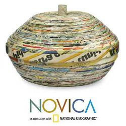 Handmade Recycled Paper 'News From Guatemala' Decorative Box (Guatemala) - Thumbnail 1