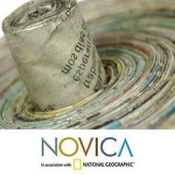 Handmade Recycled Paper 'News From Guatemala' Decorative Box (Guatemala) - Thumbnail 2