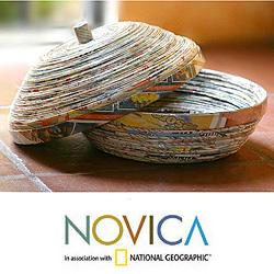 Handmade Recycled Paper 'News From Guatemala' Decorative Box (Guatemala)