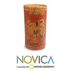 Handmade Ceramic 'Maya Heritage' Vase (El Salvador) - Thumbnail 1