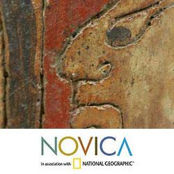 Handmade Ceramic 'Maya Heritage' Vase (El Salvador) - Thumbnail 2