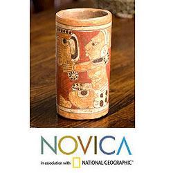 Handmade Ceramic 'Maya Heritage' Vase (El Salvador)