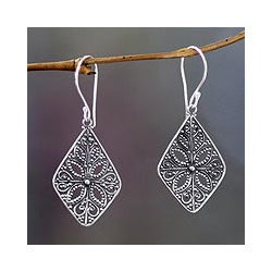 Sterling Silver 'Four Balinese Petals' Earrings (Indonesia)