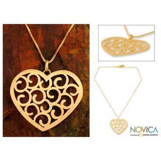 Gold Overlay 'Thai Love' Necklace (Thailand)