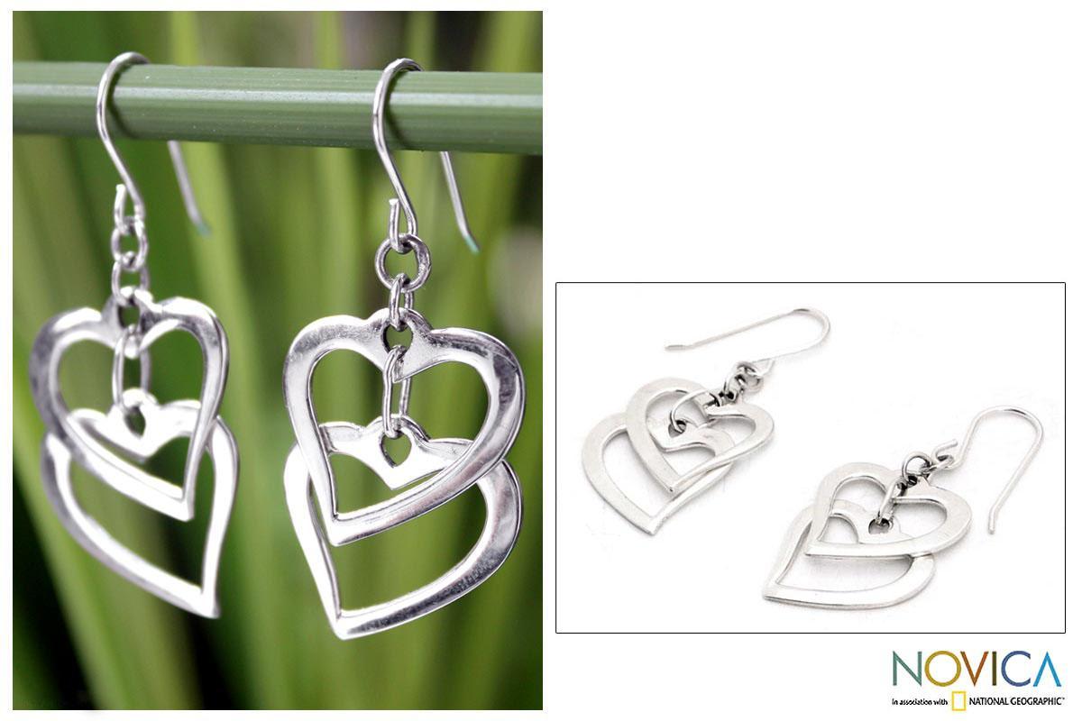 Sterling Silver 'Forever Love' Earrings (Thailand)