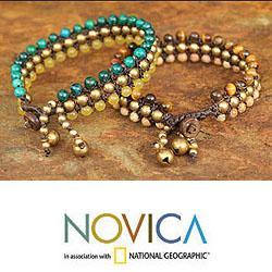 Handmade Set of 2 Multi-gemstone 'Autumn Sukhothai' Bracelets (Thailand)