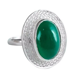 Handmade Sterling Silver Cocktail Ring 'Orissa Forest' (India)