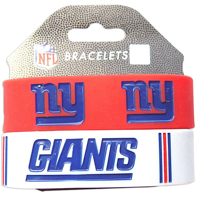 Aminco New York Giants Rubber Wristbands (Set of 2)