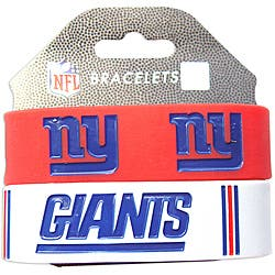 Aminco New York Giants Rubber Wristbands (Set of 2) https://ak1.ostkcdn.com/images/products/6590245/Aminco-New-York-Giants-Rubber-Wristbands-Set-of-2-P14163160.jpg?impolicy=medium