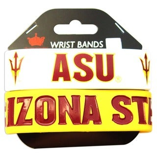Aminco Arizona State University Rubber Wristbands (Set of 2)