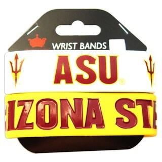 Aminco Arizona State University Rubber Wristbands (Set of 2)