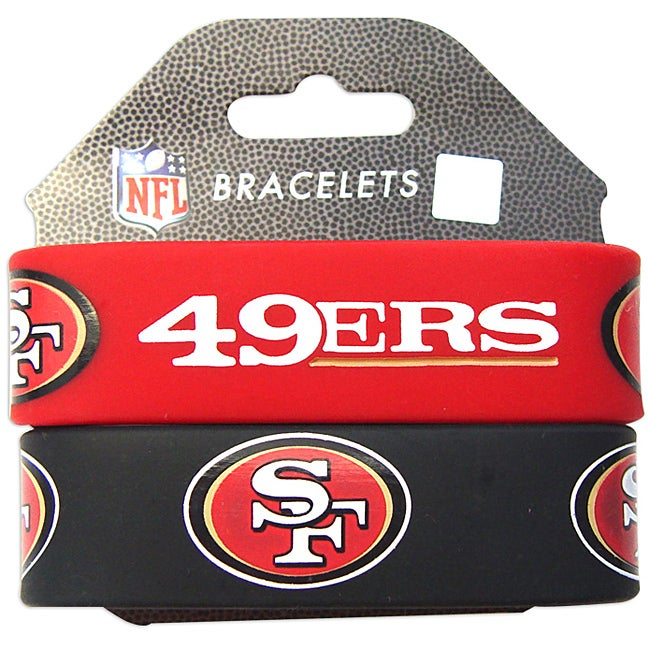 Shop Aminco San Francisco 49ers Rubber Wristbands Set Of