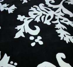 nuLOOM Handmade Pino Peonies Black Rug (8'3 x 11') - Thumbnail 2