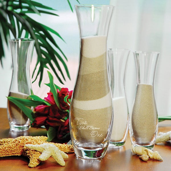 'Two Shall Become One' Sand Ceremony Candles (Set of 4)