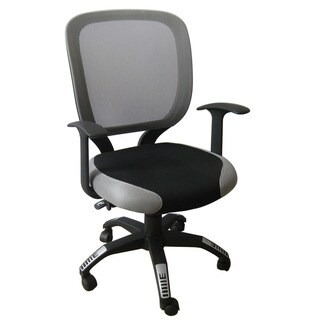 Foust Contemporary Black/ Grey Mesh Task Chair