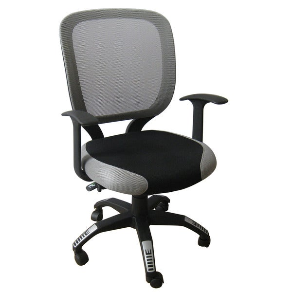 Foust Contemporary Black/ Grey Mesh Task Chair