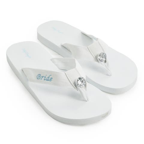 Bride White Wedding Flip-flops