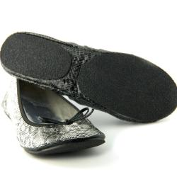 Fit In Clouds Women's 'Black Diamond' Folding Flats