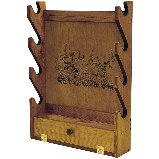 Evans Sports, Inc. Deer Print Wooden Gun Rack - Free Shipping Today - Overstock.com - 14163400