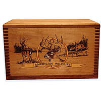 Evans Sports, Inc. Colored Deer Print Wooden Gun Accessory Case