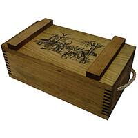 Evans Sports, Inc. Deer Print Wooden Gun Accessory/ Ammo Crate