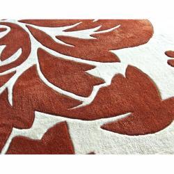 nuLOOM Handmade Pino Rust Floral Fantasy Rug (6' x 9')