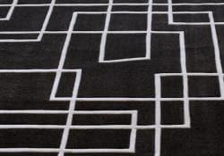 nuLOOM Handmade Pino Black Geometric Box Rug (8'3 x 11') - Thumbnail 2