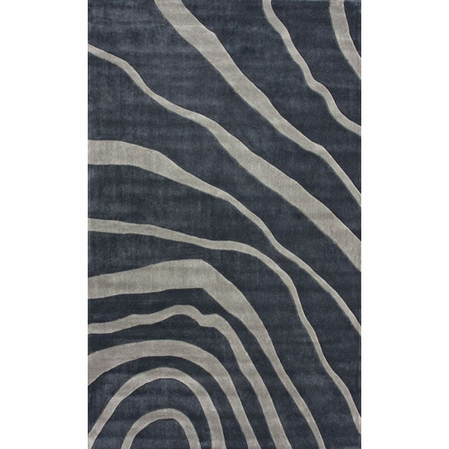 nuLOOM Handmade Pino Grey Water Waves Rug (8'3 x 11')