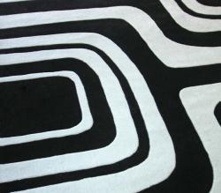 nuLOOM Handmade Pino Geometric Black Rug (8'3 x 11') - Thumbnail 2