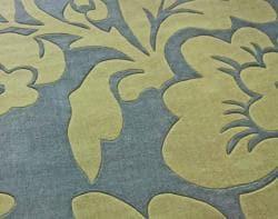 nuLOOM Handmade Pino Floral Slate Rug (8'3 x 11')