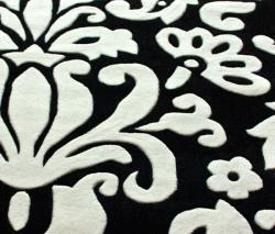 nuLOOM Handmade Pino Tribal Damask Black Rug (6' x 9')