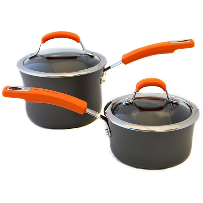 Rachael Ray II Hard-anodized Nonstick 1-quart and 2-quart Saucepans