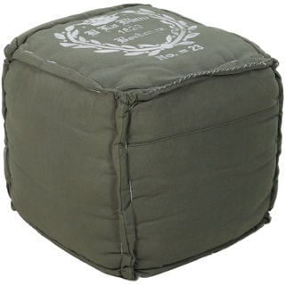 Decorative Bordeaux Hunter Green Pouf