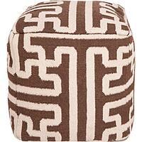 Decorative Argyle Brown Pouf