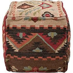 Decorative Southwestern Beige Pouf