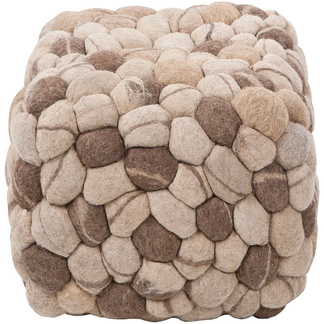 Decorative Cobblestone Grey Pouf