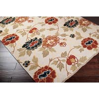 Hand-knotted Ivory Limpopo New Zealand Wool Area Rug - 2'6 x 10'