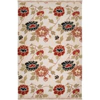 Hand-knotted Ivory Limpopo New Zealand Wool Area Rug - 4' x 6'