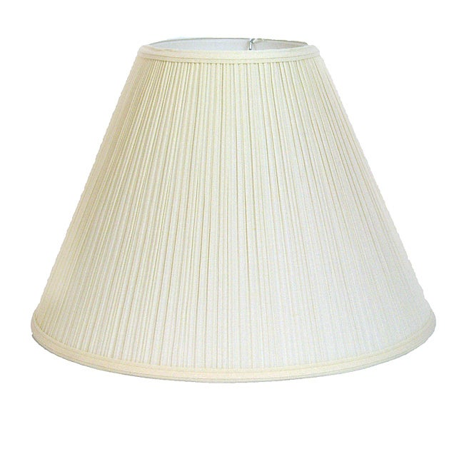 Crown Lighting Off-white Pleated Empire Lampshade
