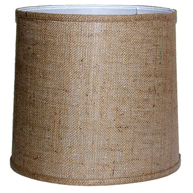 Medium-Brown Burlap-Drum Indoor Lamp Shade - Free Shipping ...
